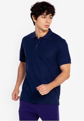 ZALORA ACTIVE blue Boxy Polo Shirt 4757DAA550D77EGS_1