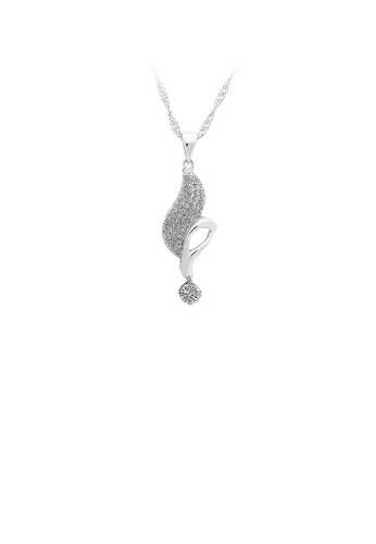 Glamorousky silver 925 Sterling Silver Pendant with White Cubic Zircon and Necklace 9F3BAACC0FD544GS_1