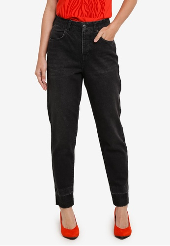 Selected Femme black SFFRIDA HIGH RISE MOM BLACK POCKET J SE157AA0S5QXMY_1