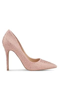 3c4ab2743b9 Miss Selfridge pink Coco Embellished Court Heels Nude B5347SH88FE8E0GS 1