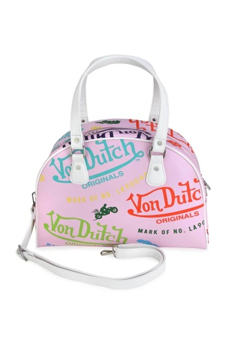 Von Dutch pink Von Dutch Pink All Over Print Medium Bowling Bag 6E714ACC7E5B50GS_1