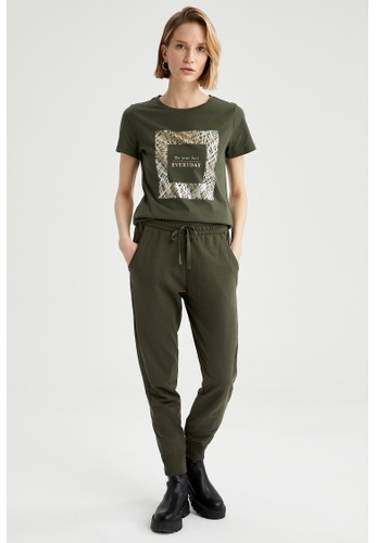 DeFacto green Woman Knitted Trouser 34BC2AA7E9364CGS_1