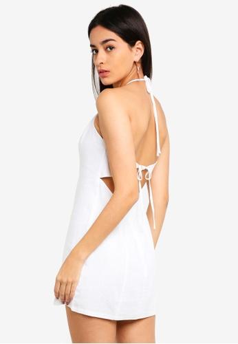 Supre white Halter Neck Dress C58B7AA4F6057AGS_1