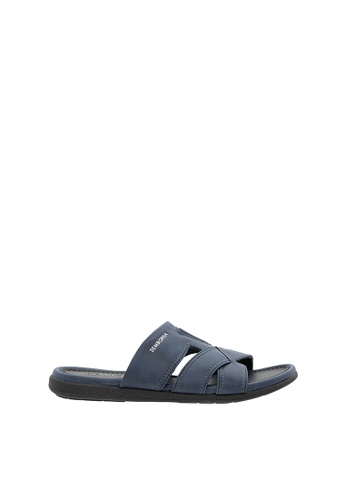 SEMBONIA blue Men Synthetic Leather Sandal 2A000SH19C72D3GS_1