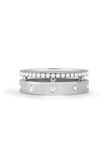 Aquae Jewels white Ring Rich & Bold Diamond Band – 18K Gold - White Gold C2698AC0293C26GS_1