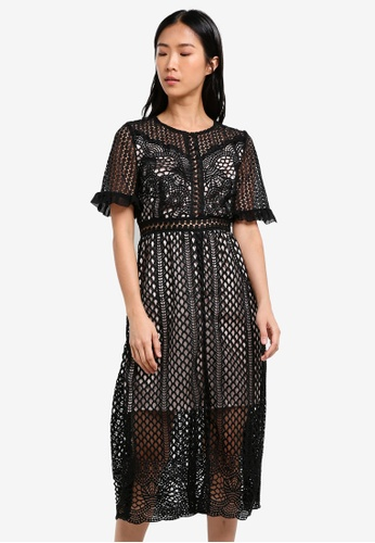 True Decadence black Crochet Lace Dress TR715AA0S2YLMY_1