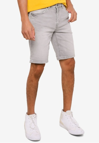 Springfield grey Slim Fit Bermuda Denim Shorts 99AF4AA6914454GS_1