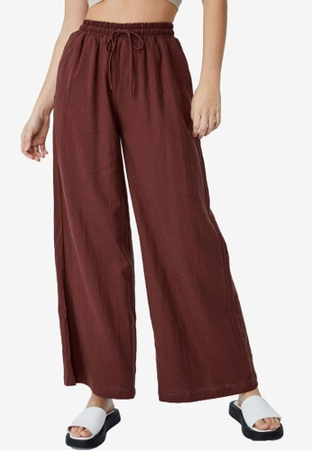 Cotton On red Daydreamer Wide Leg Pants 8C6BEAAC809F46GS_1