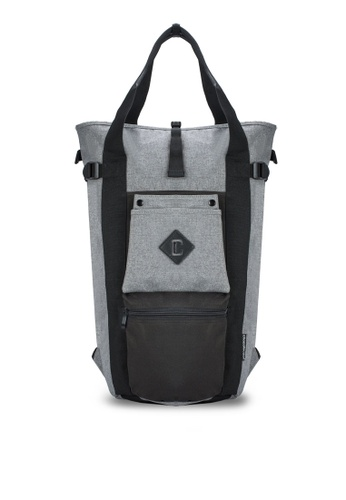Chocollection grey Louis 2-Way Backpack CH825AC34GTHHK_1