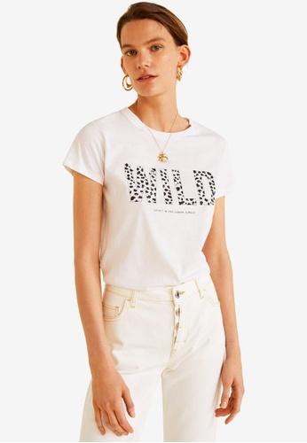 Mango white Organic Printed Cotton T-Shirt 915EFAA5A09546GS_1