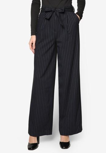 寬管直筒細條紋長褲, 服飾, esprit china長褲及內搭褲