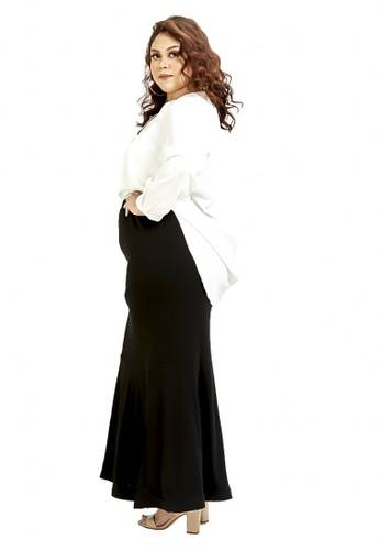 CURVA FABULOUS black Ms Umairah Mermaid Skirt B0671AA8B0ECF0GS_1