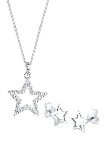Elli Germany white Perhiasan Wanita Perak Asli - Silver Perhiasan Set Star Crystal EL948AC35ZPWID_1