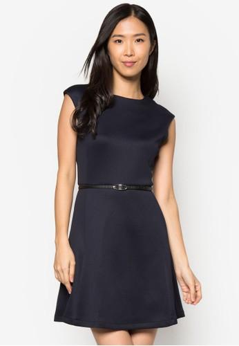 經典腰飾傘狀連身裙,zalora 心得 ptt 服飾, 正式洋裝