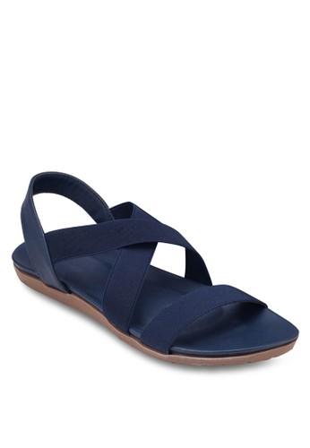 交叉帶平底涼鞋, 女鞋,esprit outlet 香港 涼鞋