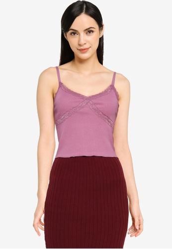 Cotton On purple Luna Lace Cami E33DCAA77F0A59GS_1