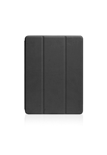 """Monocozzi black LUCID FOLIO - Ultra Slim Hard Flip Case for iPad 9.7"""" 2017 & 2018 with Auto On-Off - Charcoal A649CACAADAAF7GS_1"""