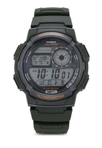 Casio World Map Watch.Buy Casio Casio Ae 1000w 3avdf Watch Zalora Hk
