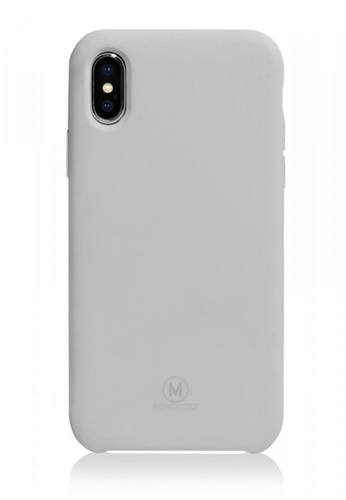 Monocozzi grey GRITTY - LIQUID SILICON STAIN RESISTANT CASE FOR IPHONE X - STONE GREY 740D3ACB75A085GS_1