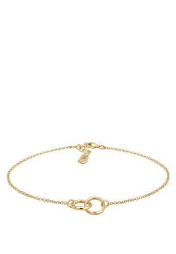 ELLI GERMANY gold Elli Germany Anklet Circle Geo Minimal Basic 925 Silver Gold Plated 47948AC7A14A8CGS_1