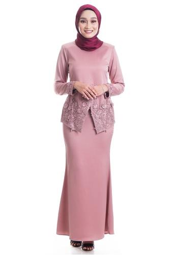 Ashura pink Reyhana Kebaya With Patched Lace 4BA19AA8933433GS_1