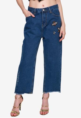 UNAROSA blue Ada Pants ED007AA075838EGS_1