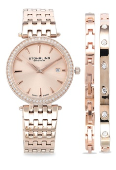 e528718638c4 Stuhrling Original gold Symphony Jewelry   Watch Set 579 3176DACA52E897GS 1