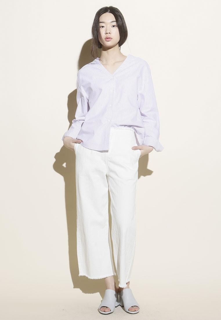 Korean Style V Stripe Top