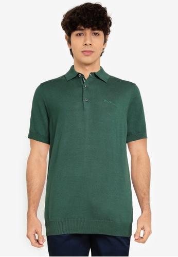 Ben Sherman green Short Sleeves Signature Knitted Polo Shirt 98731AA951CDE2GS_1