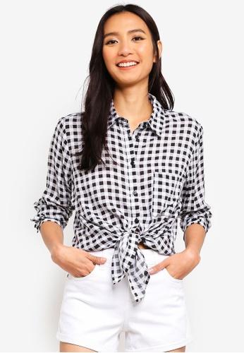 OVS white Viscose Shirt With Pocket 6AB79AA4FDB18CGS_1
