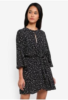 b5a3b2c42471 TOPSHOP black Petite Knot Front Mini Dress 39A6EAA310A7C2GS 1
