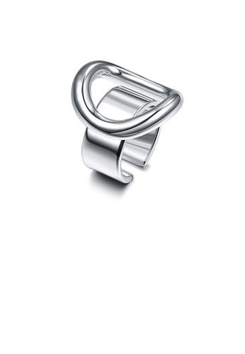 Glamorousky silver Simple and Fashion Geometric Round Adjustable Split Ring A6D66AC76BA41DGS_1