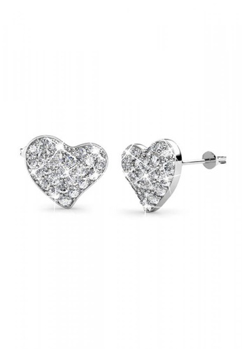 Her Jewellery silver Her Jewellery Happy Love Earrings with 18K Gold Plated 4B517AC824E1BEGS_1