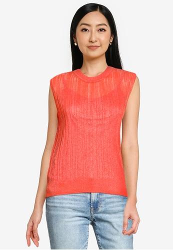 Heather orange Texture Top 5375EAAF3218FEGS_1