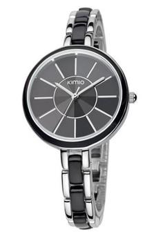 Kimio Vintage with Sharp Glass Dial Women Silver Bracelet Watch