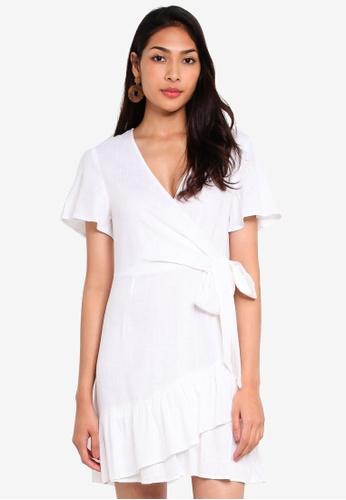 Glamorous 白色 綁帶洋裝 96D4AAA5E7723FGS_1