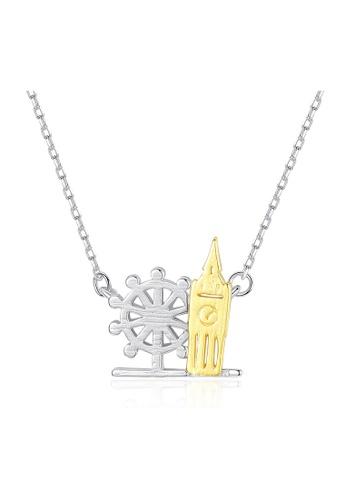 SUNRAIS silver Premium Silver S925 Silver Simple Design Necklace 0149CAC0433003GS_1