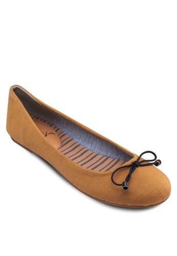 蝴蝶結帆布esprit tsim sha tsui平底鞋, 女鞋, 芭蕾平底鞋