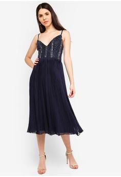 223833b6e28 Lace   Beads navy Cylia Mulan Dress Embellished Strappy Dress  07826AAA386A83GS 1