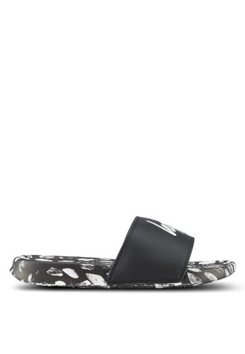 Just Hype black and white Fingerprint Sliders 53DF0SH4B393C0GS_1