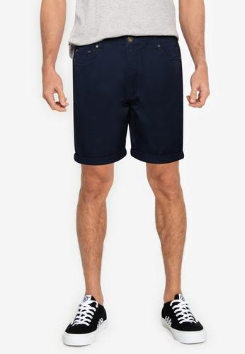 !Solid navy 5 Pocket Shorts E12BCAAB8E3953GS_1