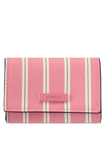 Mango pink Striped Purse C2A92AC8C48A02GS_1