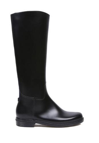 Twenty Eight Shoes black Long Rain Boots 882 TW446SH83RPSHK_1