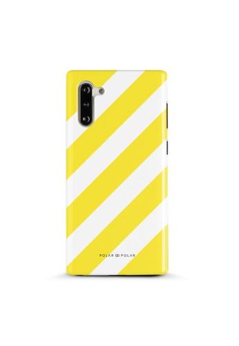 Polar Polar yellow Yellow Slash Dual-Layer Tough Case Glossy For Samsung Note 10 77E41AC397842EGS_1