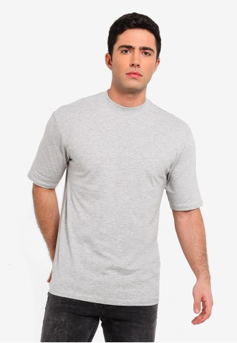 Only & Sons grey Donnie Oversized Tee 5DC72AA3F48B23GS_1