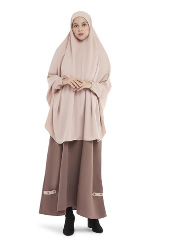 ZAYIDAN n/a Queenza Set Gamis Wanita Muslimah By Zayidan Madeena Yukensi - Mocca 96366AA9E50ED6GS_1