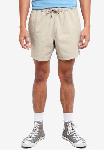 Topman beige Stone Ripstop Shorts E495DAA6A5C9A4GS_1