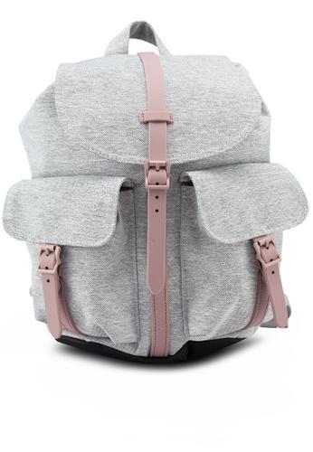 Herschel grey and pink Dawson S Backpack 52AF0AC2213361GS_1