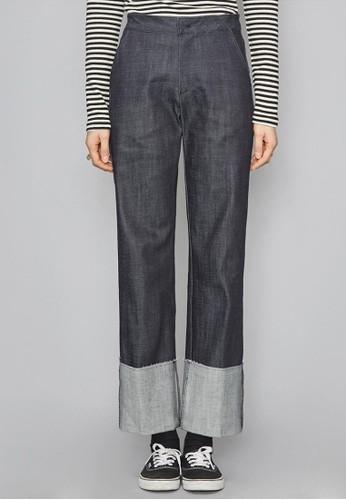 布織捲邊牛仔褲,esprit hk store 服飾, 多色牛仔褲