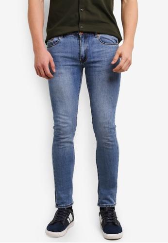Electro Denim Lab 藍色 Indie Skinny Jeans EL966AA0SF7TMY_1